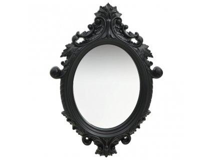 Nástěnné zrcadlo zámecký styl 56 x 76 cm černé