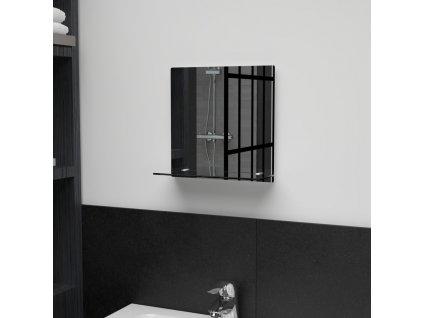 Nástěnné zrcadlo s policí 30 x 30 cm tvrzené sklo