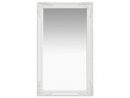 Nástěnné zrcadlo barokní styl 60 x 100 cm bílé