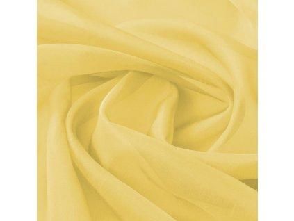 Voálová tkanina, 1,45x20 m, žlutá
