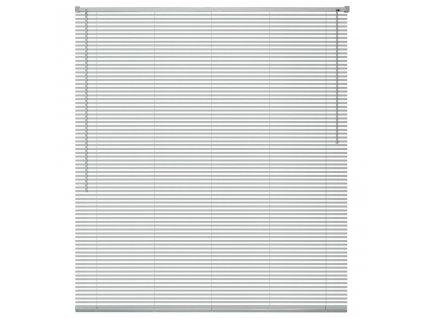Okenní žaluzie hliník 140x160 cm stříbrná