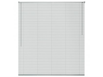 Okenní žaluzie hliník 160x160 cm stříbrná