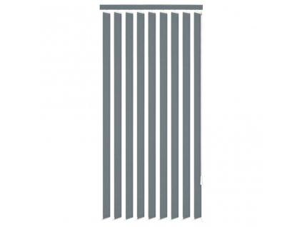 Vertikální žaluzie šedá látka 150x180 cm