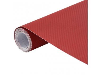 Fólie na auto 3D matná červená 200 x 152 cm