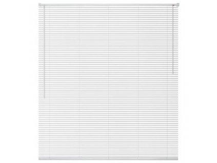 Okenní žaluzie hliník 140x160 cm bílá