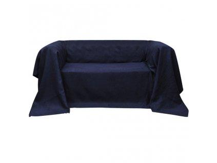 Mikrosemišový potah na pohovku, námořnická modř 140x210 cm