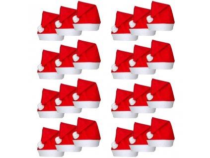 24 x Vánoční čepice Santa Claus