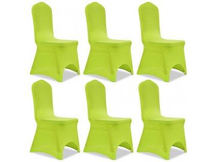 Strečové potahy na židle 6 ks zelené