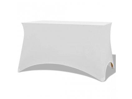 Strečový návlek na stůl 2 ks 183x76x74 cm bílý