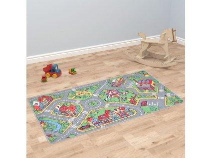 Hrací koberec se smyčkovým vlasem 80x120 vzor Městská silnice
