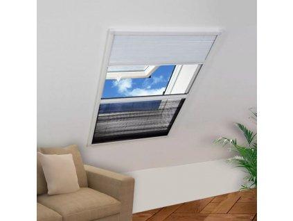 Plisovaná okenní síť proti hmyzu 160 x 110 cm se zastíněním