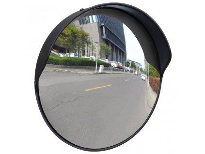Dopravní vypouklé zrcadlo PC plast černé 30 cm venkovní