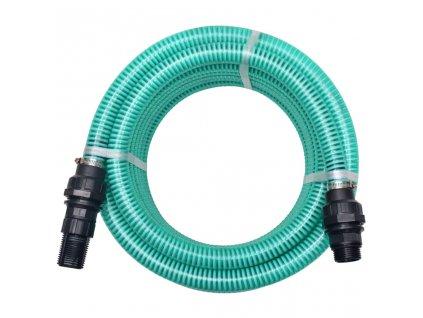 Sací hadice s konektory 4 m 22 mm zelená