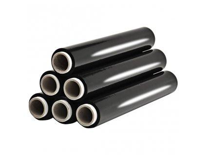 Role paletové fólie 6 ks černé 23 µm 624 m