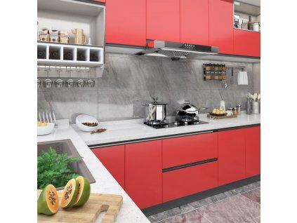 Samolepící tapeta na nábytek červená 500 x 90 cm PVC