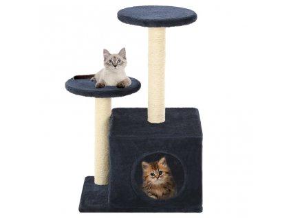 Škrabadlo pro kočky se sisalovými sloupky 60 cm tmavě modrá