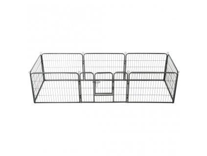 Ohrádka pro psy 8 panelů ocelová 60 x 80 cm černá