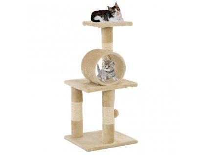 Škrabadlo pro kočky se sisalovými sloupky 65 cm béžové