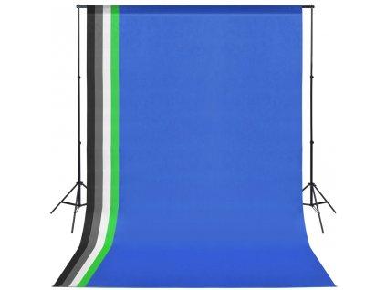 Profesionální foto studio set: 5 pozadí a nastavitelný rám