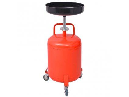 Odsávačka vyjetého oleje  49,5 L ocel červená