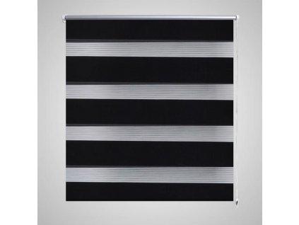 Roleta den a noc / Zebra / Twinroll 40x100 cm černá