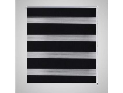 Roleta den a noc / Zebra / Twinroll 90x150 cm černá