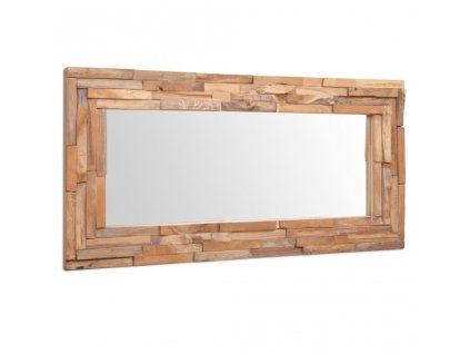 Dekorativní zrcadlo teak 120 x 60 cm obdélníkové