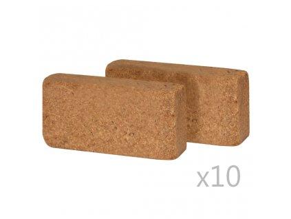 Lisované kokosové vlákno 20 ks 650 g 20 x 10 x 4 cm