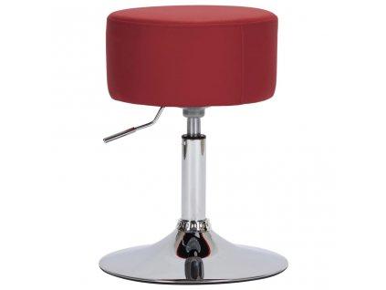 Barová stolička vínová umělá kůže