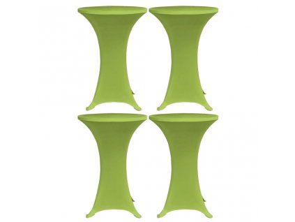 Strečový návlek na stůl 4 ks 80 cm zelený