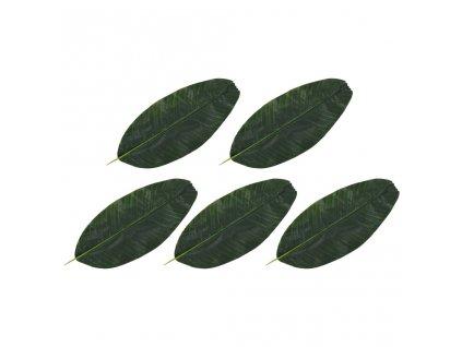Umělé listy banánovník 5 ks zelené 62 cm