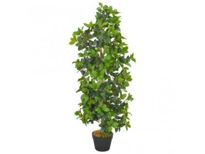 Umělá rostlina vavřín vznešený s květináčem zelená 120 cm