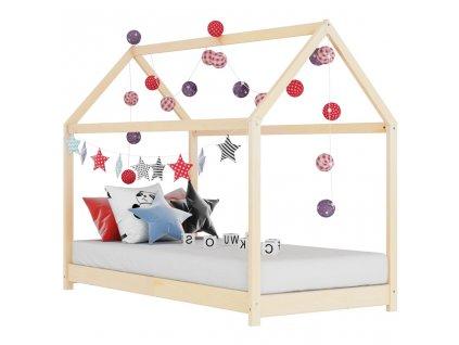 Rám dětské postele masivní borovice 80 x 160 cm