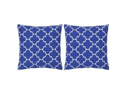 Polštáře s potiskem 2 ks modré 40 x 40 cm bavlna