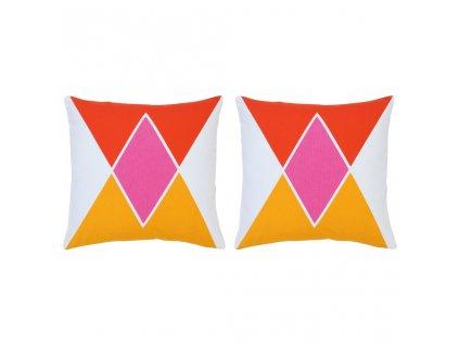 Polštáře s potiskem 2 ks vícebarevné 40 x 40 cm bavlna