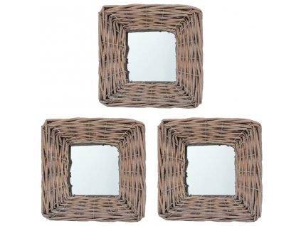 Zrcadla 3 ks 15 x 15 cm proutí