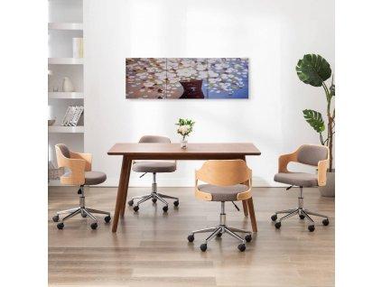 Sada nástěnných obrazů na plátně Květiny ve váze 120 x 40 cm