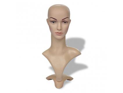 Aranžérská plastová hlava - žena - A