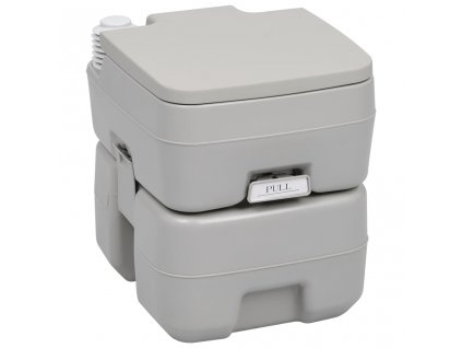 Přenosná kempingová toaleta šedá 20+10 l