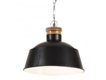 Industriální závěsné svítidlo 32 cm černé E27