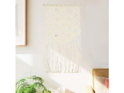 Nástěnný závěs macramé 40 x 80 cm bavlna