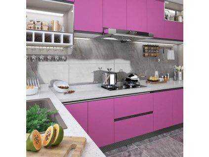 Samolepící tapeta na nábytek fialová vysoký lesk 500x90 cm PVC