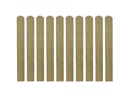 Impregnované plotovky 10 ks dřevo 80 cm