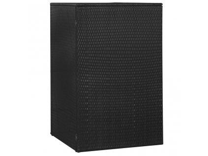 Přístřešek na popelnici černý 76 x 78 x 120 cm polyratan