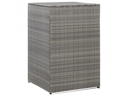 Přístřešek na popelnici uhlový 76 x 78 x 120 cm polyratan