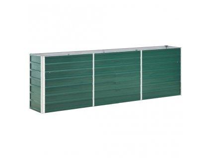 Vyvýšený záhon pozinkovaná ocel 240 x 40 x 77 cm zelený