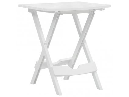 Skládací zahradní stůl 45,5 x 38,5 x 50 cm bílý