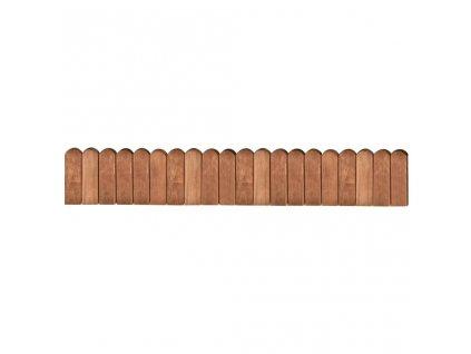 Trávníkový lem hnědý 120 cm impregnované borové dřevo