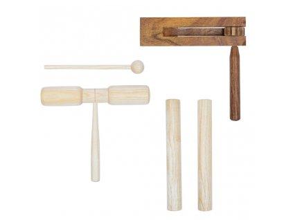 3dílná perkusní sada dřevěná