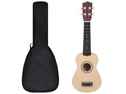 """Set soprano ukulele s obalem pro děti světlé dřevo 21"""""""